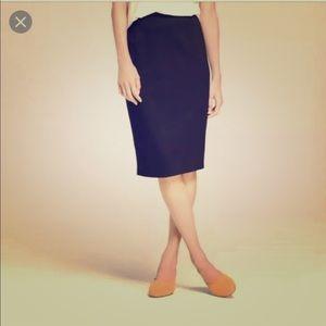 Rebecca Taylor Black Pencil Skirt Size 8
